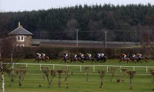 Action on Morebattle Hurdle day at Kelso
