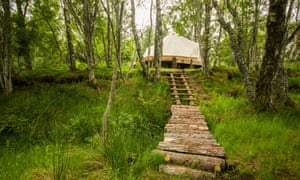 Ace Hideaways' secluded woodland campsite, Dunphail, Forres, Moray, Scotland.