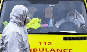 An ambulance during the Coronavirus outbreak Coronavirus outbreak, Brussels, Belgium, 16 November 2020.