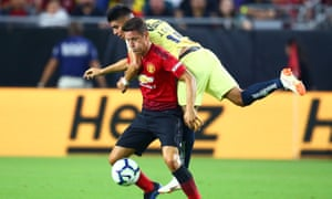 Ander Herrera in action during the 1-1 draw with Club América in Phoenix.
