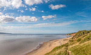 Thurstaston beach, with views across the River Dee to North Wales.