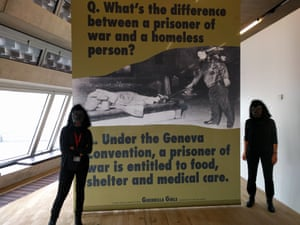 Kathe and Frida of the Guerrilla Girls in London.