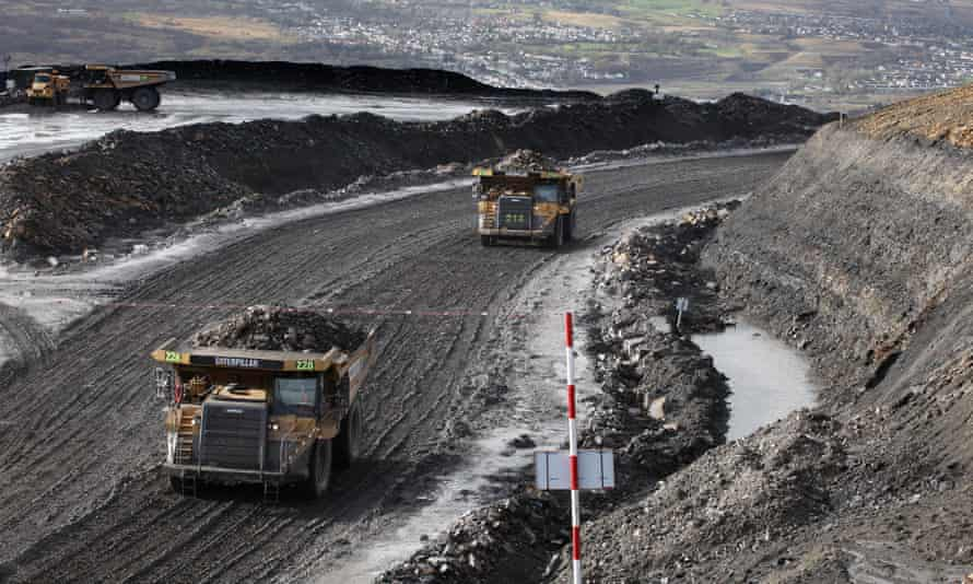 Operations are being gradually wound down at Ffos-y-Fran opencast coalmine in south Wales