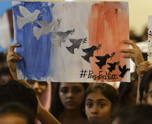 Ahmedabad, India Students take part in a prayer meeting in memory of the victims