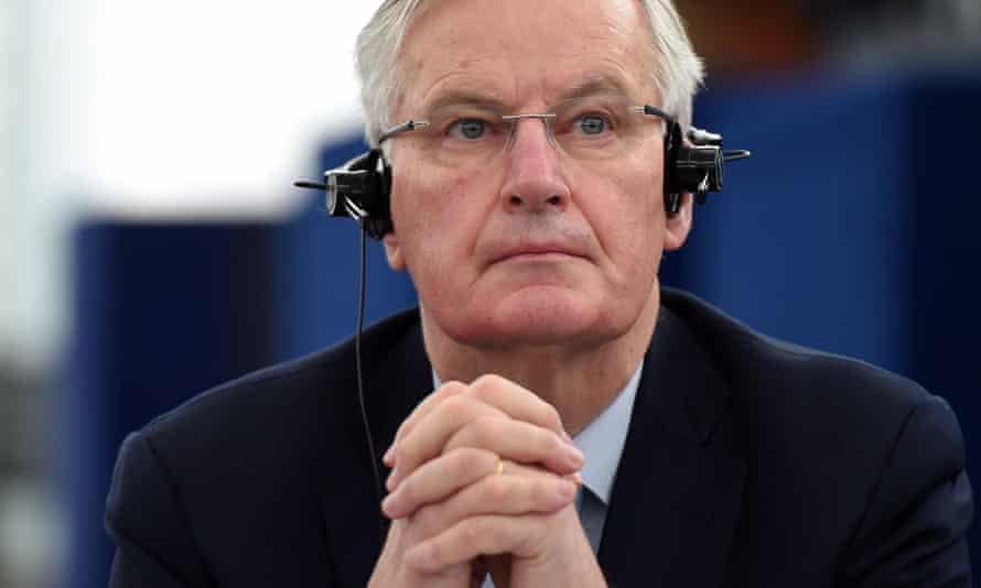 Michel Barnier in the European parliament