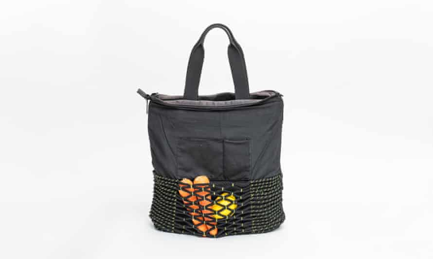 Tote bag restored by textile weaver Tiffany Loy