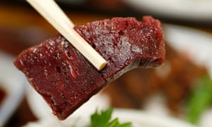 Sliced raw whale meat: a food festival in Tokyo is aiming to tempt visitors to try it.