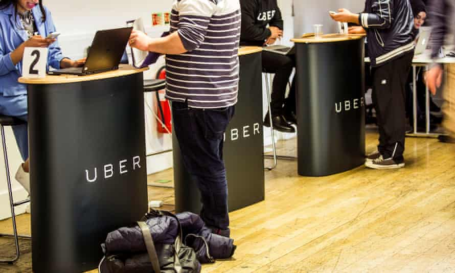 Uber's driver service centre in London.