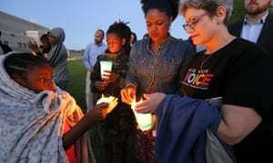 People light candles for Jordan Edwards in Balch Springs, Texas.