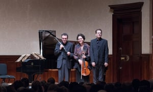 L to R: Jörg Widmann, Tabea Zimmermann and Dénes Várjon at the Wigmore Hall