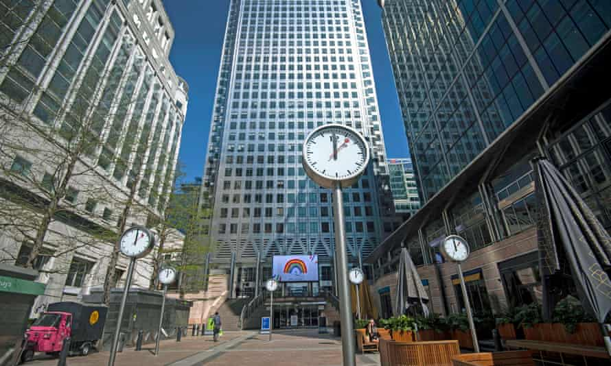 Closed businesses and shops at Canary Wharf, London: 'It's reasonable for the government to explicitly require a new coronavirus risk assessment in every workplace.'