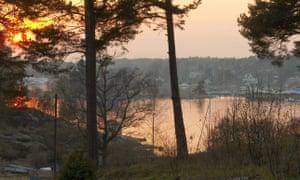 View from the cabin on Stegesund-Hästholmen, Sweden.