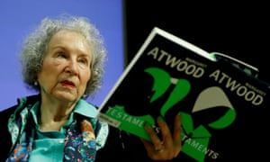 """BRITAIN-CANADA-LITERATURE-TELEVISIONCanadian author Margaret Atwood gives a press conference following the release of her new book 'The Testaments' a sequel to the award-winning 1985 novel """"The Handmaid's Tale"""" in London on September 10, 2019. (Photo by Tolga AKMEN / AFP)TOLGA AKMEN/AFP/Getty Images"""