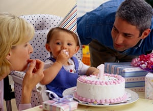Another first: 'I spent the entire day watching my son smiling and eating cake.'