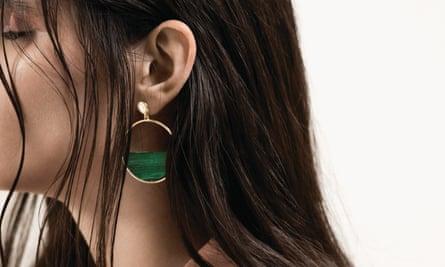 Earrings, £10, from Warehouse. Hair by Vimal Chavda using Oribe.