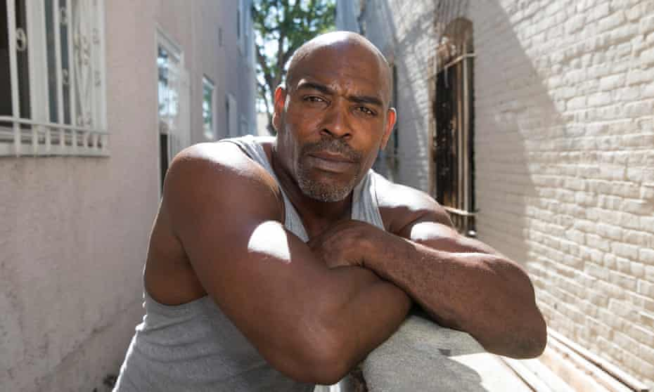 Juan King, brother of Rodney King, outside his home in Los Angeles, CA.