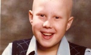 Matt Lucas smiling, aged around 8 or 9