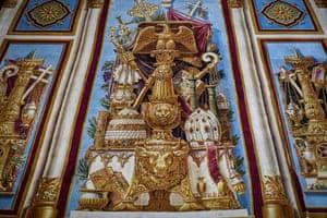 Paris, France: The carpet from Notre-Dame de Paris Cathedral is prepared for renovation