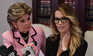 Jessica Drake, who works for an adult film company, speaks beside Gloria Allred about allegations of sexual misconduct against Donald Trump in October 2016.