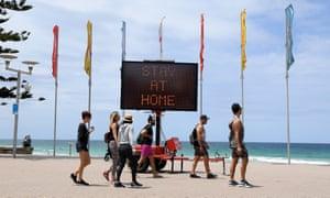 Manly beach in Sydney 26 December 2020.