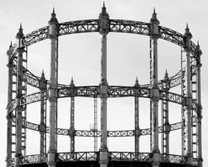 A gas holder tower in Great Yarmouth by photographer Martin Chivers.