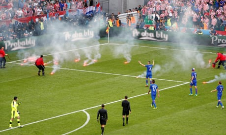Why did Croatia fans disrupt their Euro 2016 match against Czech Republic?