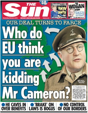 When Cameron challenged the Sun's views on Europe he was brutally attacked.