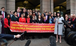 The group of Labour MPs calling for a new referendum on membership of the EU.