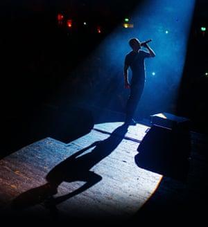 Mike Skinner performing in 2019.