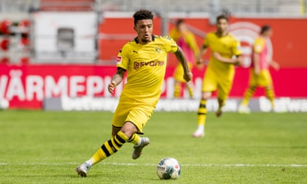 Jadon Sancho will be in demand this summer, though what sort of fee he could command is uncertain