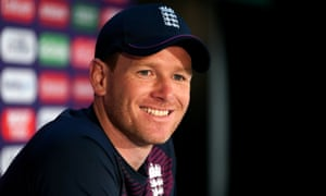 England's Eoin Morgan during a packed press conference at Lord's.