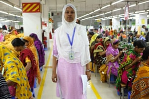 Farzana Islam carries out a factory inspection.