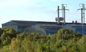 The Tata Steelworks In Lanarkshire.