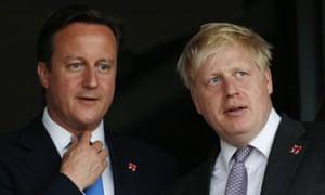 David Cameron and Boris Johnson.