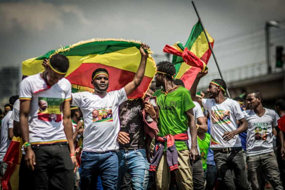 Rally in Addis Ababa of opposition movement Ginbot 7