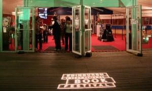 Entrance to the Edinburgh international book festival in Charlotte Square in 2008.