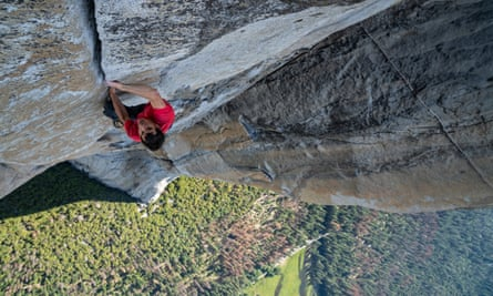 Chess-like mountaineering … Alex Honnold climbs El Capitan in Free Solo.