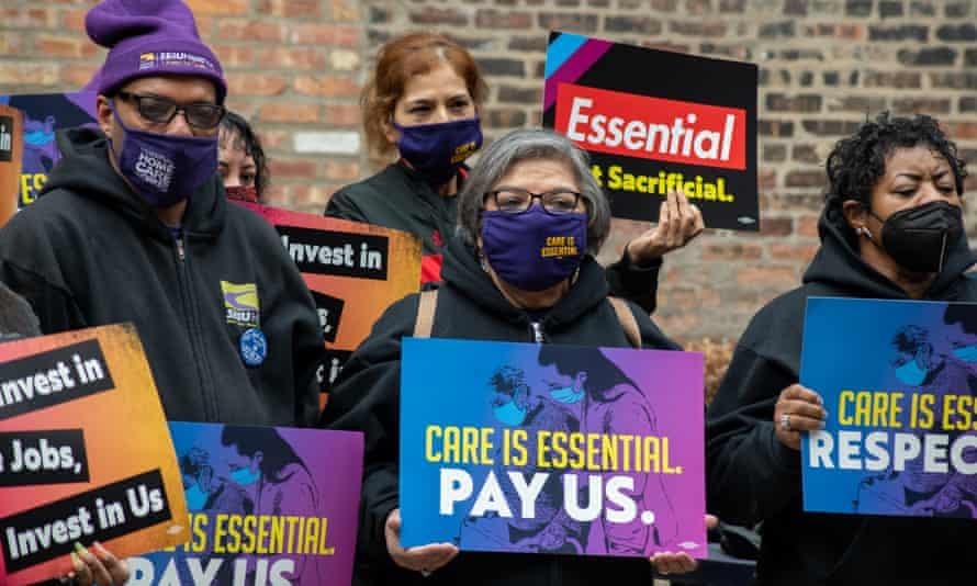SEIU Healthcare Illinois/Indiana rally in Chicago, Ill