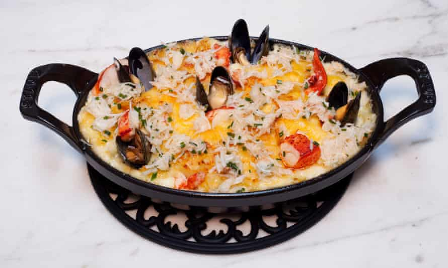 Luxe seafood mac 'n' cheese
