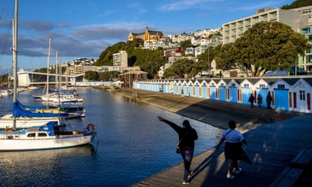 Oriental Parade in Wellington during Level 3 lockdown for the Covid-19 pandemic