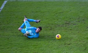 Nick Pope of Burnley makes a save.