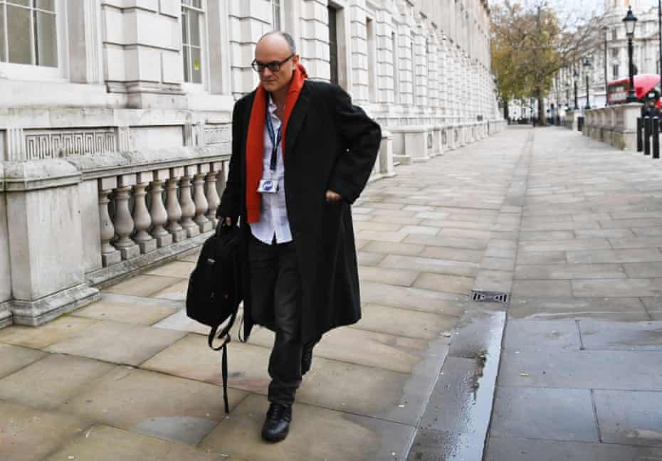 Dominic Cummings on his way to Downing Street on Friday.