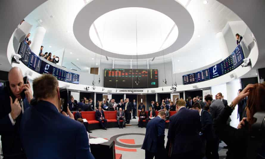 the trading floor of the London Metal Exchange