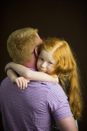 Egor Potapov and his daughter, Perm, Russia