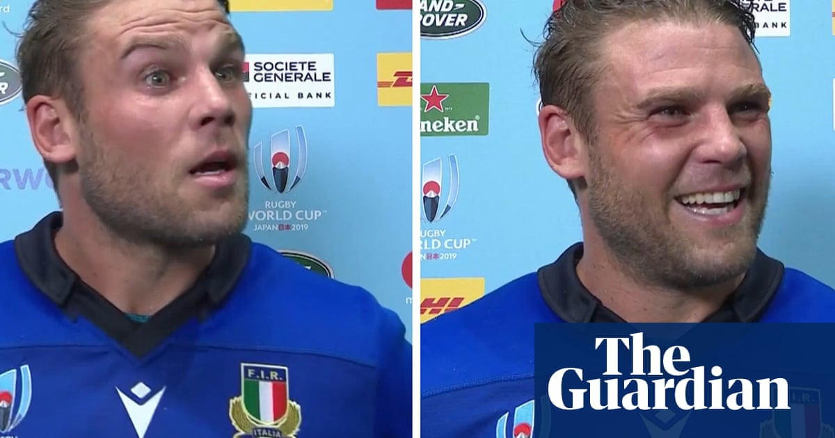 Rugby World Cup interviewer calls Italys Dean Budd the Canada captain – video