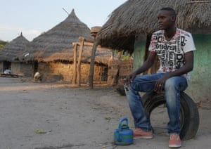 Goundo Wandianga in his village, Sare Bakary, where all the other young men have left.