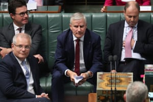 Deputy PM Michael McCormack during question time in the House of Representatives in Parliament House Canberra this afternoon.