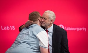 David Mallon (left) and Jeremy Corbyn after Mallon's speech to the conference.