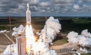 The Ariane 5 rocket with a payload of four Galileo satellites lifts off from ESA's European Spaceport in Kourou, French Guiana last year.