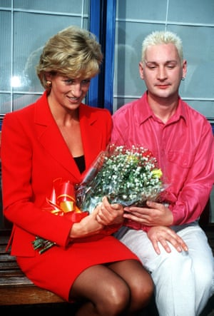 Princess Diana visiting patients and staff at the London Lighthouse, a centre for people affected by HIV and Aids, in October 1996.